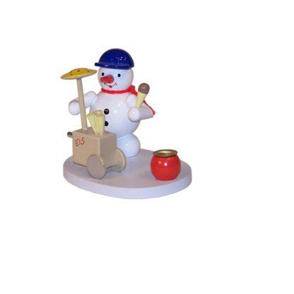 Kerzenhalter Schneemann Eisverkäufer-0