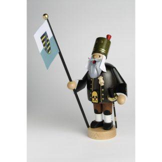 Räuchermann Bergmann mit Fahne-0