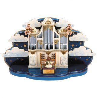 Orgel mit kleiner Wolke mit Musikwerk-0