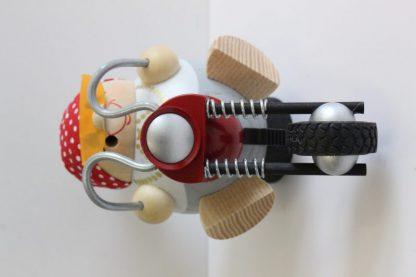 Kugelräucherfigur Bikerbiene-8373