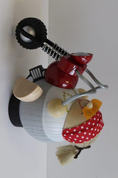 Kugelräucherfigur Bikerbiene-8368