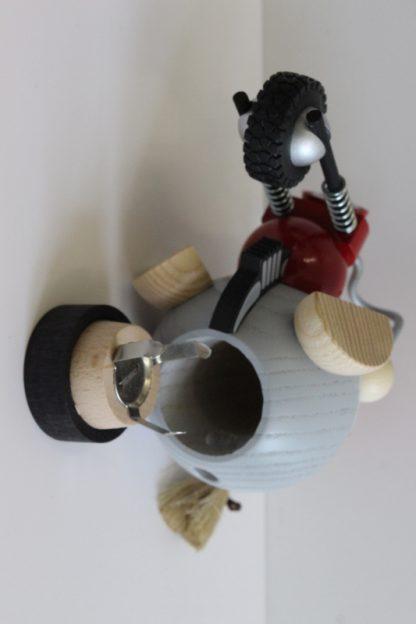 Kugelräucherfigur Bikerbiene-8369