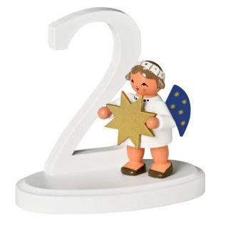 """Zahl """"2"""" mit Engel-0"""