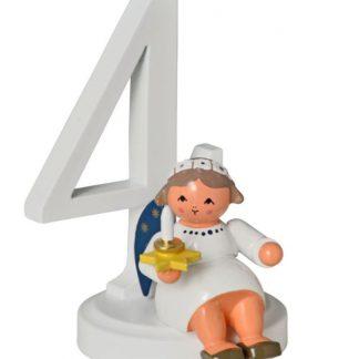 """Zahl """"4"""" mit Engel-0"""