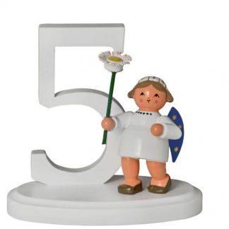 """Zahl """"5"""" mit Engel-0"""