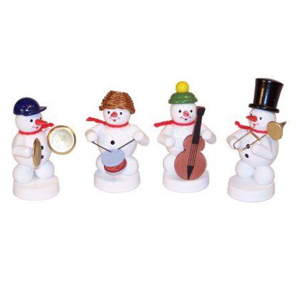 Schneemannkapelle, 4 Figuren Baßgeige, Becken, Trommel, Posaune-0