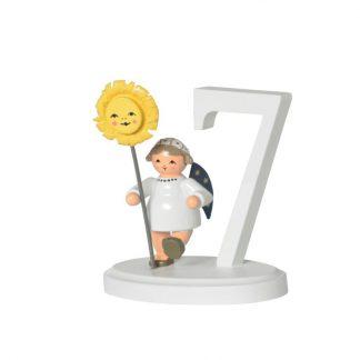 """Zahl """"7"""" mit Engel-0"""