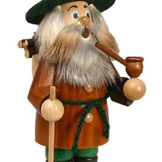Räuchermann Wichtel Holzsammler braun-0