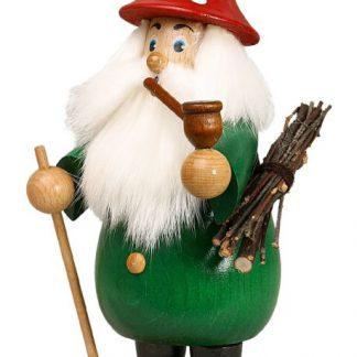 Räuchermann Wurzelzwerg grün Hut rot-0