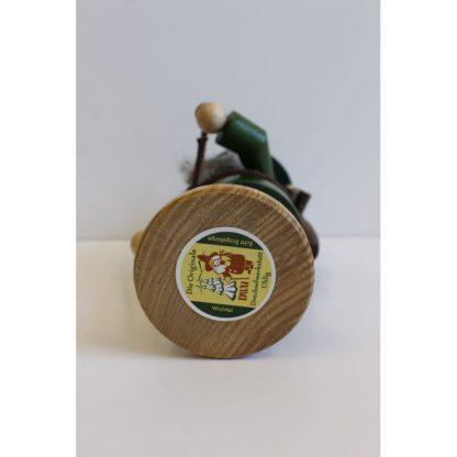Räuchermann Wichtel Holzsammler grün-6999