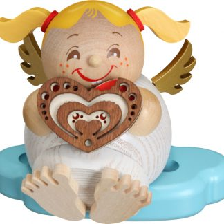 Kugelräucherfigur Engel mit Lebkuchen-0