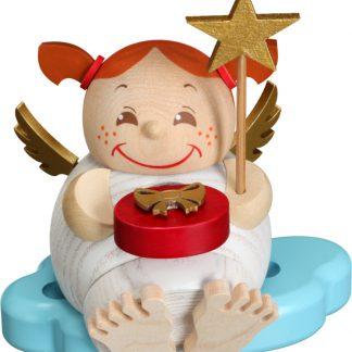 Kugelräucherfigur Engel mit Weihnachtsgeschenk-0