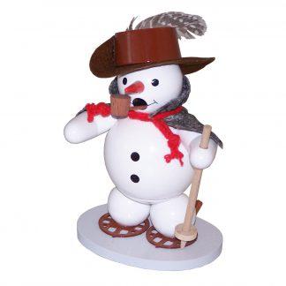 Räuchermann Schneemann mit Schneeschuhen-0