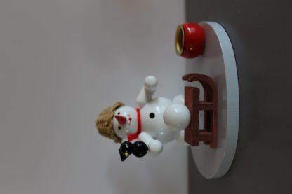 Kerzenhalter Schneemann mit Schlitten-9753