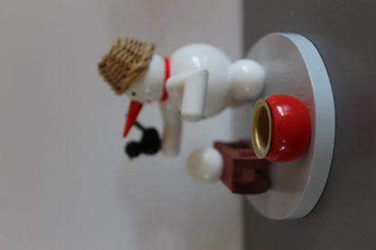 Kerzenhalter Schneemann mit Schlitten-9752
