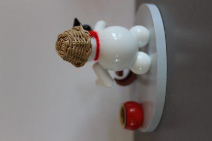 Kerzenhalter Schneemann mit Schlitten-9748