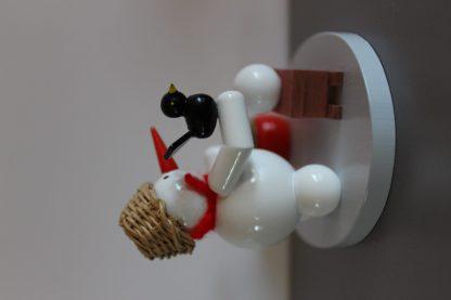 Kerzenhalter Schneemann mit Schlitten-9749