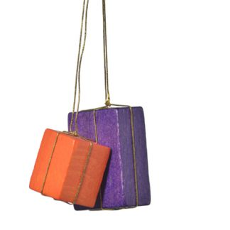 """Baumbehang """"Pakete orange/lila""""-0"""
