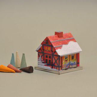 Original KNOX Räucherhaus aus Metall - Advent Weihnachtsmann rot-0