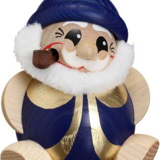 Kugelräucherfigur Nikolaus, blau-gold-0