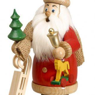 Räuchermann Weihnachtsmann Rot mit Geschenke-0