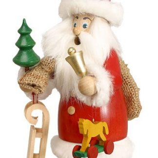 Räuchermann Weihnachtsmann mit Fell und Geschenke-0