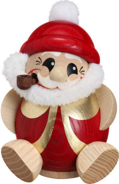 Kugelräucherfigur Nikolaus rot-gold -0