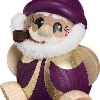 Kugelräucherfigur Nikolaus purpur-gold -0