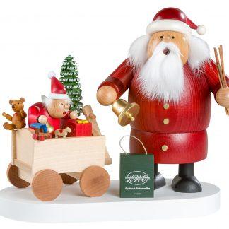 Räuchermann Weihnachtsmann mit Kind-0