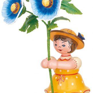 Blumenkind Mädchen mit Malve-0